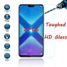 2 adet temperli cam onur 20 Pro 20Lite 10i 20i Clear ekran koruyucu koruyucu Film için Huawei onur 10 Lite 8 9 Pro