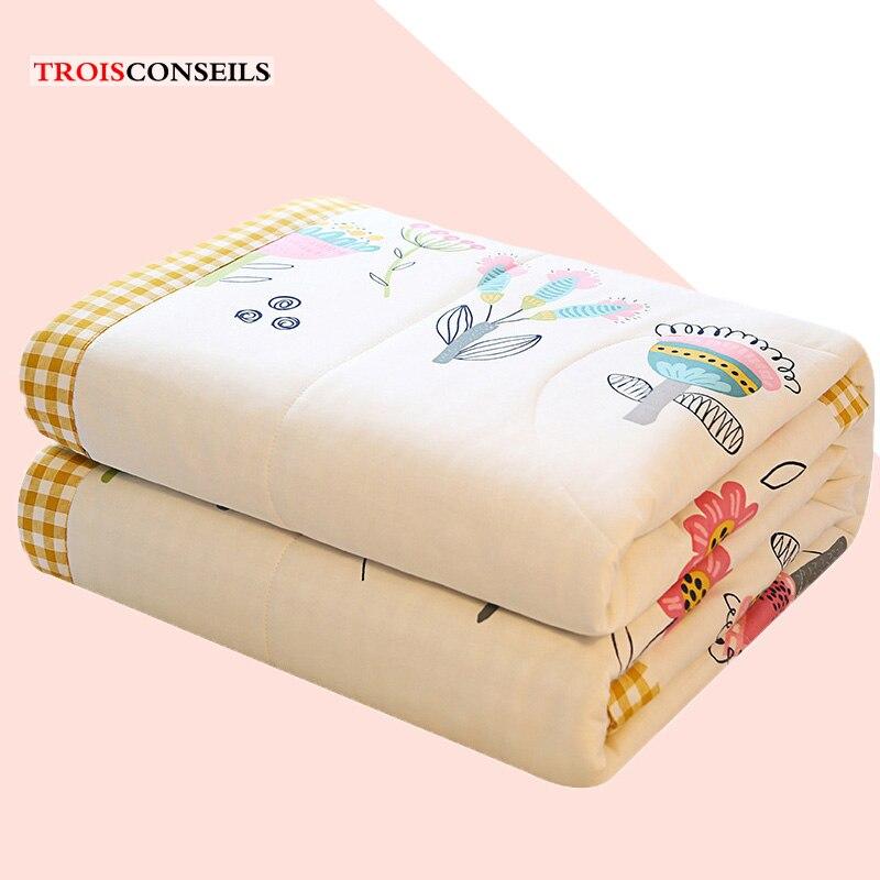 الصيف غسلها الحرير تكييف الهواء رقيقة لحاف الصيف الربيع المفارش باردة خليط الأبيض الوردي الأحمر بسيط المعزي بطانية