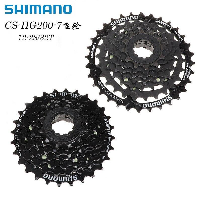 SHIMANO Shimano CS-HG200-7 دولاب الموازنة دراجة هوائية جبلية 7 21 سرعة بطاقة دولاب الموازنة 28 32 الأسنان