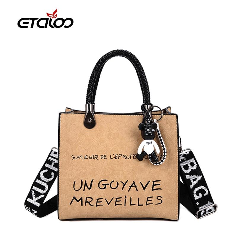 2021 New Women Scrub Leather Shoulder Bags Casual Vintage Ladies Crossbody Bag Handbag Female Tote Solid Clutch Hot Sale Bags