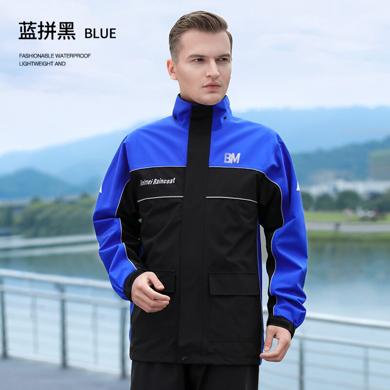 Summer Men Motorcycle Raincoat Rain Pants Suit Riding Waterproof Rainwear Full Body Split Chubasquero Hombre Rainwear EB5YY enlarge