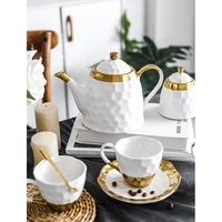 ceramic coffee cup set simple afternoon tea flower with european style small luxury household high end