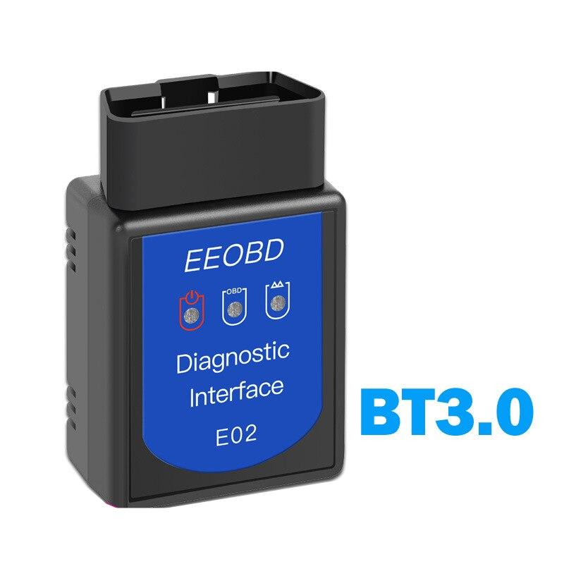 E02 2020 EEOBD BT3.0 Bluetooth Автомобильный диагностический OBD2 автомобильный детектор ELM327OBDII автомобильный инструмент для ремонта неисправностей Авто...