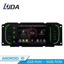 LJDA lecteur multimédia Jeep Android 10.0 1 Din   Lecteur multimédia, Navigation GPS pour Jeep Grand Cherokee Wrangler Sebring Dodge PT Cruiser RAM