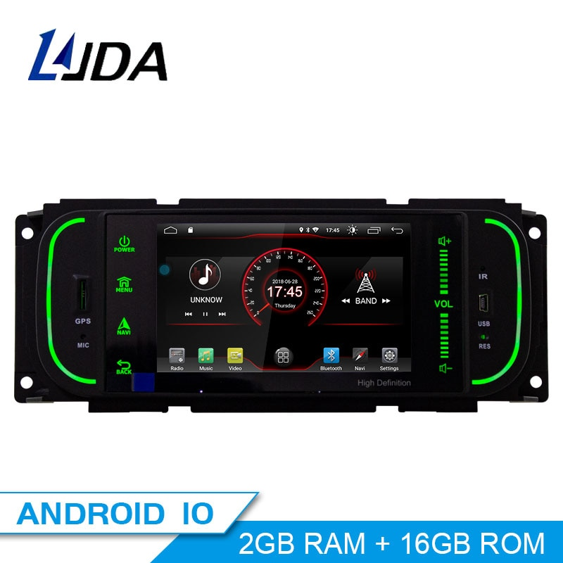 LJDA Android 10,0 1 Din автомобильный Радио мультимедийный плеер GPS навигация для Jeep Grand Cherokee Wrangler Sebring Dodge PT Cruiser RAM