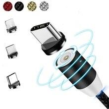 Câble magnétique Micro USB Type C câble chargeur magnétique câble de Charge USB magnétique pour IPhone Xs 8 Samsung