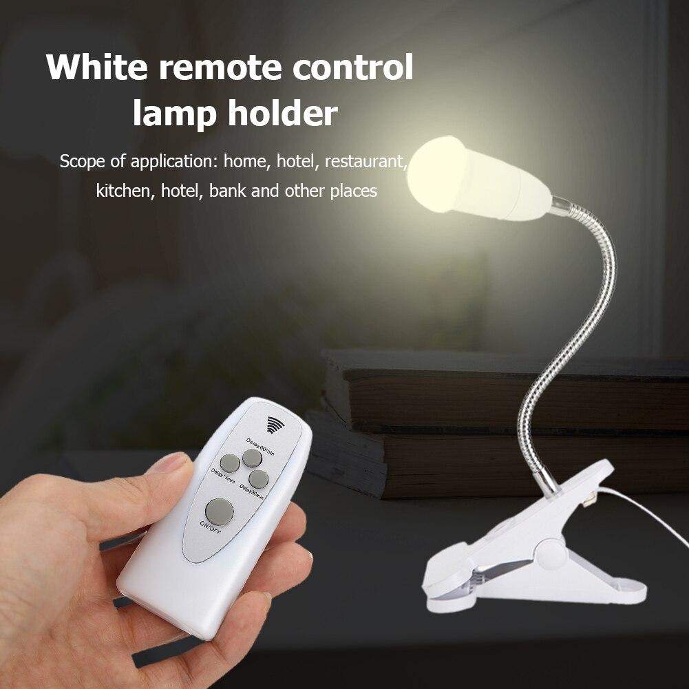 1.7m ajustável e27 led base de luz controle sem fio mesa clipe suporte da lâmpada sensor interruptor luz soquete titular