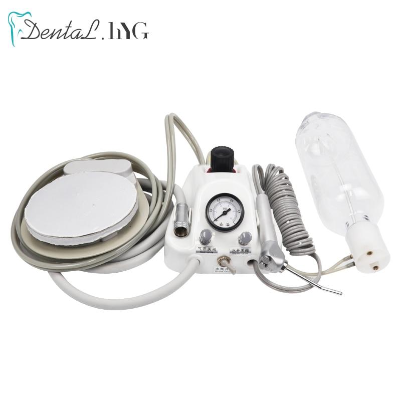 وحدة توربينات الأسنان المحمولة تعمل مع ضاغط الهواء 3 طريقة حقنة 2/4 ثقوب تبييض الأسنان معدات طب الأسنان البلاستيك قذيفة