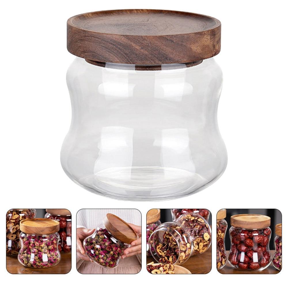 1pc armazenamento doméstico jar chá vasilha de armazenamento de alimentos pode selar vasilha