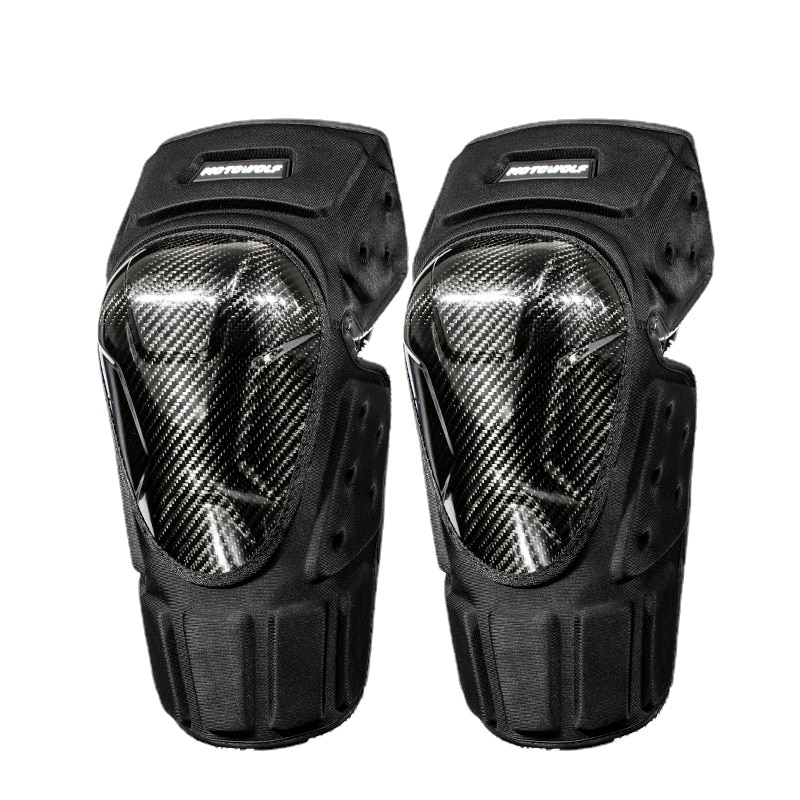 Motorcycle Anti-Fall Knee Pad Elbow Protector Cycling Windproof Warm Horse Riding Protective Gears Leg Protector Carbon Fiber
