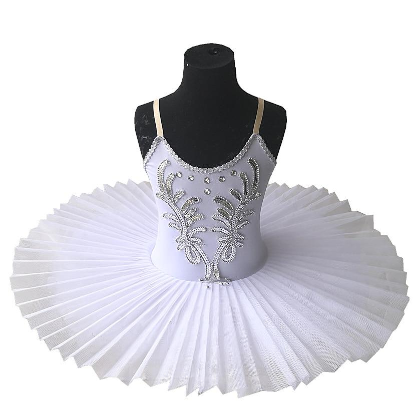 Fairyea White Ballet Tutu Skirt Ballet Dress Children's Swan Lake Costume Kids Belly Dance Costumes Stage Professional недорого