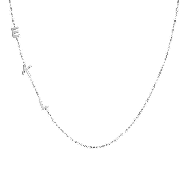 AILIN شخصية الأولي إلكتروني قلادة مخصص اسم قلادة المختنق التصويت الترقوة 925 الفضة النساء مجوهرات هدايا عيد الميلاد