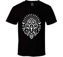 Maori Warrior Tattoo Face T Shirt Black Tee New Zealand Haka Dance2018 New Short Sleeve Casual T-Shirt Tee Summer