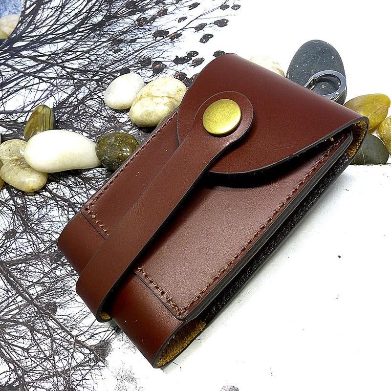 blongk Multifunctional House Key Bag Leather Large Capacity Key Case Drawstring Key Organizer Card Holder Men Women 1871KL