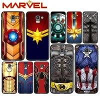 avengers hero marvel for samsung galaxy j2 j3 j4 core j5 j6 j7 j8 prime duo plus 2018 2017 2016 soft black phone cover