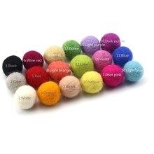 120 pièces 20mm 100% laine feutre boule Pom Pom boules bricolage maison enfants chambre décor suspendus vert rose blanc Lime violet feutre laine boules