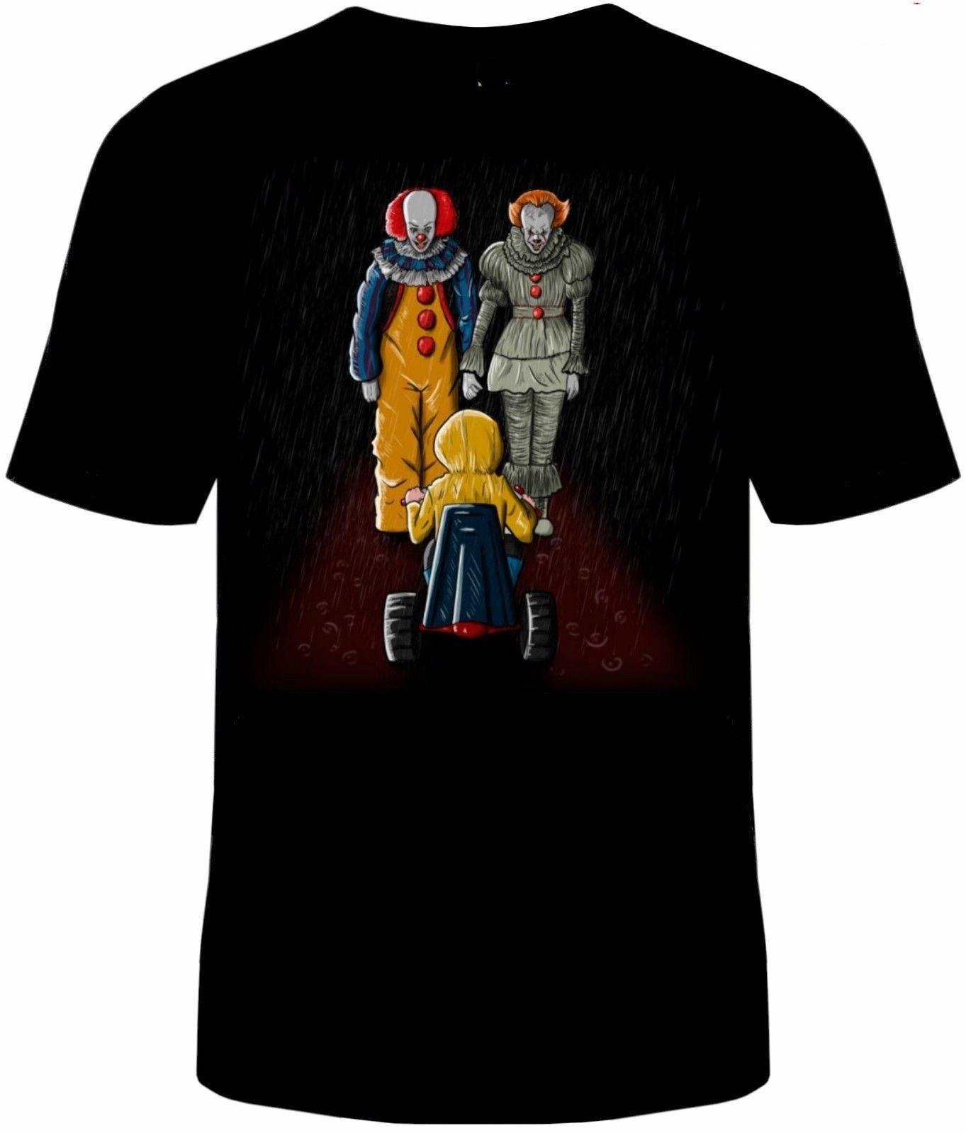 Camiseta para hombre Pennywise IT Man Hiya, payaso adulto, Stephen, camiseta de rey, camiseta novedosa para mujer