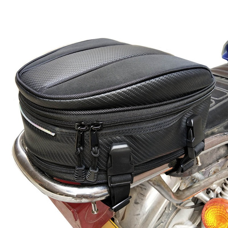 2020 Motorcycle Tail Bags Back Seat Bags Kit Travel Bag Motorbike Scooter Sport Luggage Rear Seat Rider Bag Pack Pocket Bag