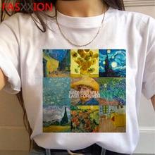Nouveau Van Gogh Van Goghing Van Parti Esthétique T-shirt Femmes Drôle De Bande Dessinée Harajuku T-shirt Ullzang Mème Tshirt 90s top T-shirts Femme