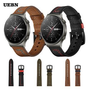 UEBN Stitching leather strap for Huawei Watch GT 2 Pro Band for Watch GT 2 42mm 46mm GT 2e & Honor ES Bracelet Watchband
