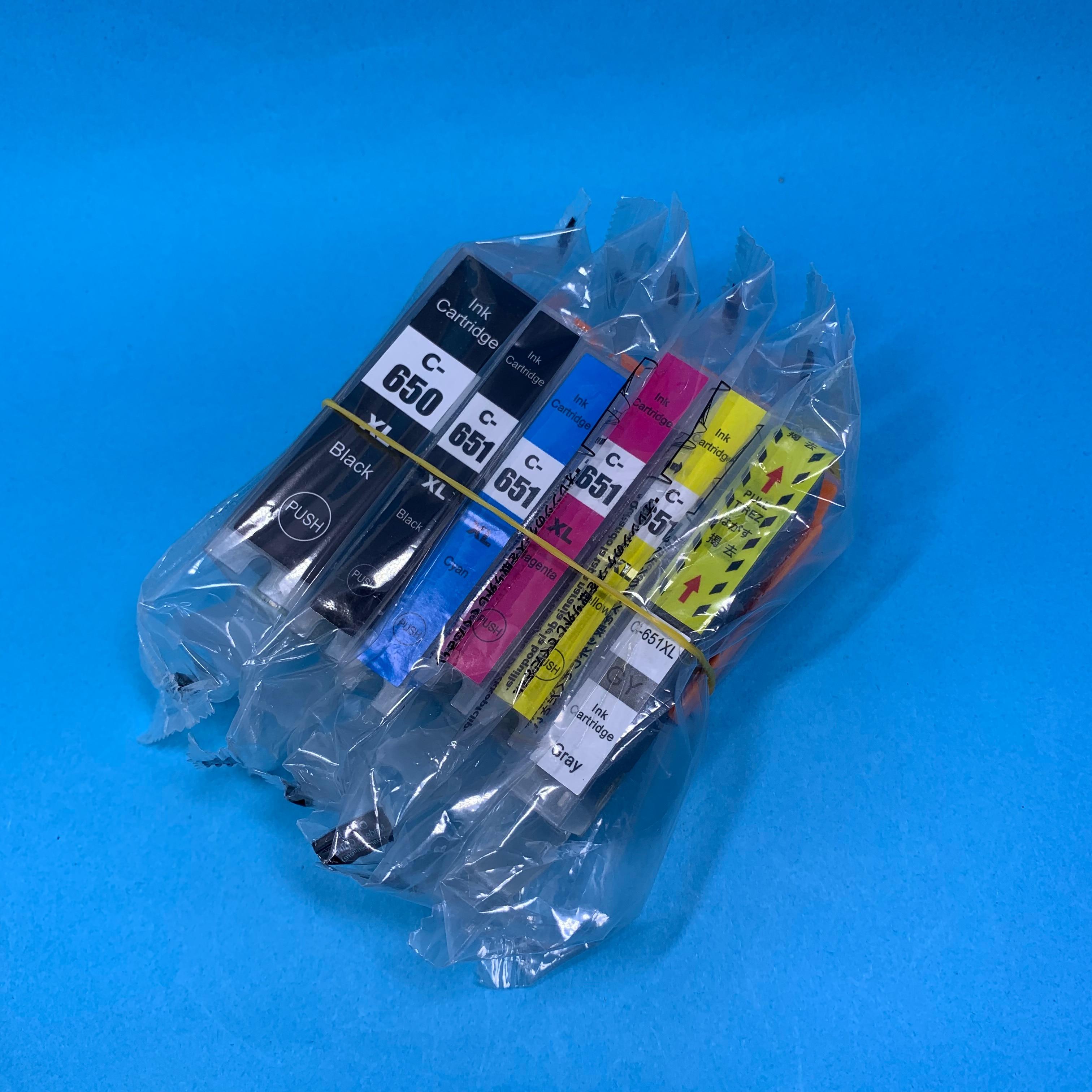 Совместимый картридж YOTAT с чернилами PGI650, 6 шт., фотовспышка для принтера Canon PIXMA MG6360 MG7160