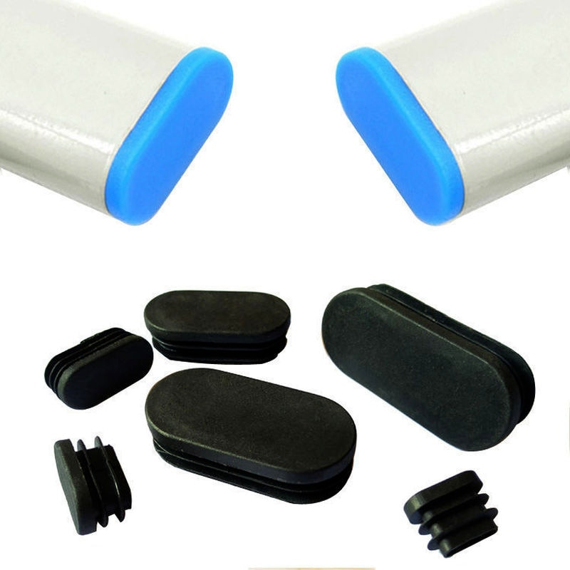 4pcs Oval plastic pipe plug Non-slip chair leg cover Cap Socks table foot floor protector pad meubles furniture Leveling Feet