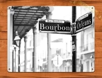 2020 tin sign bourbon street new orleans picture art poster wall decor