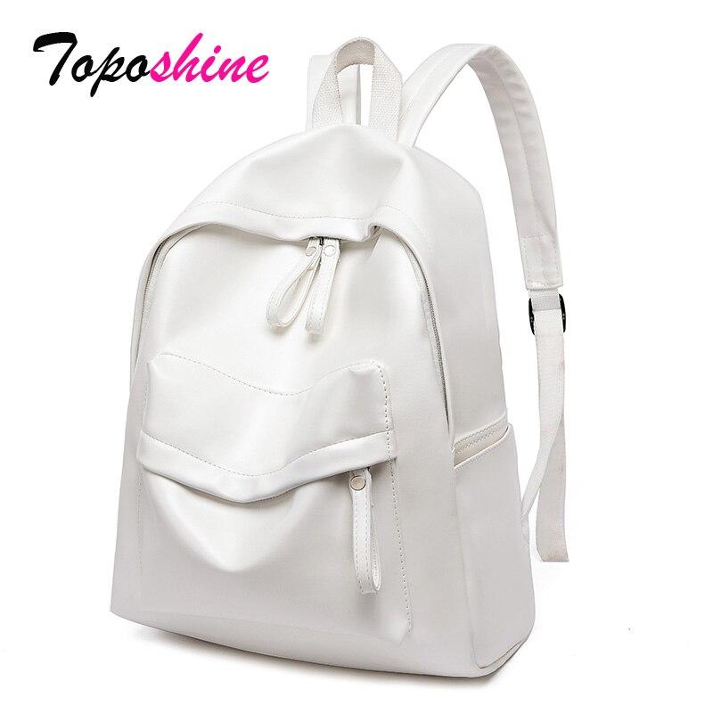 Toposhine mochilas de gran capacidad para mujeres Vintage niñas mochila escolar señoras viaje blanco rosa bolsos de hombro mochilas femeninas