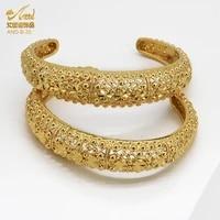 aniid dubai bangles 24k gold bracelets for women wholesale luxury wedding african arabic cuff plated accessories metal hawaiian