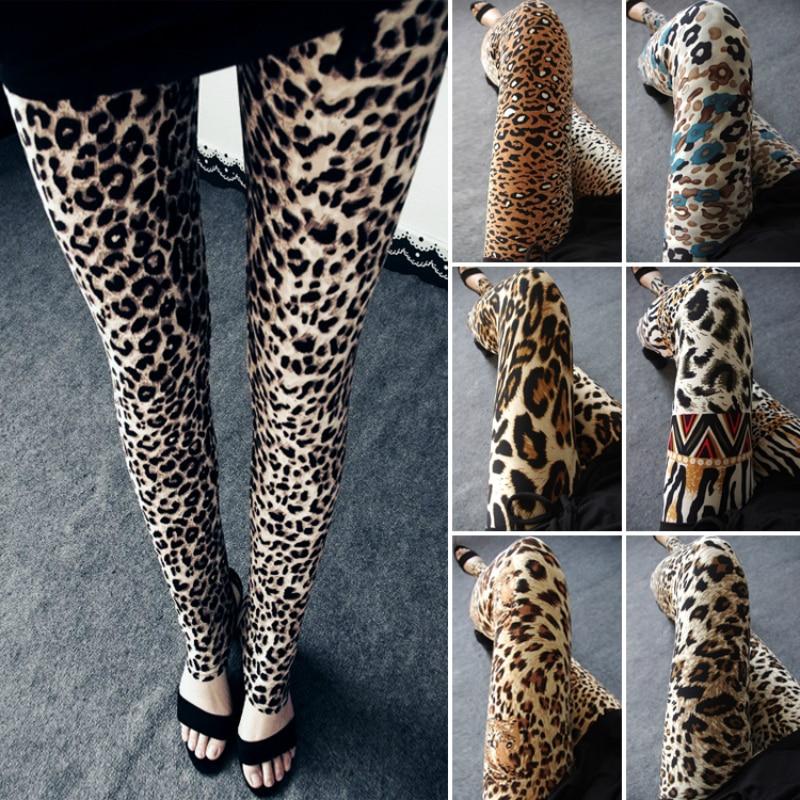 Leopard Leggings Women Animal Print Leggings Sexy Casual Soft Stretchy Attractive Spring Summer Leggins Fitness Slim Pants