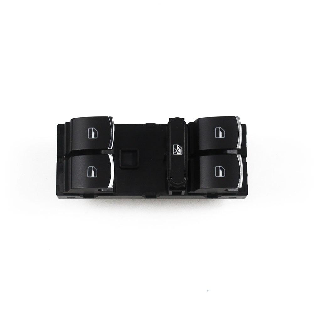 Larbll chrome interruptor da janela de energia painel 10 pinos para volkswagen jetta golf mk5 mk6 passat cc 5nd959857 5k4959857