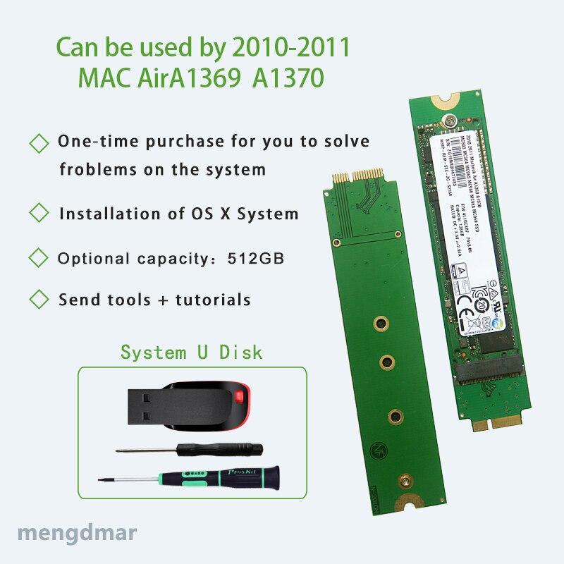 Новый жесткий диск 512 ГБ SSD для 2010 2011 Macbook Air A1369 A1370 твердотельный диск MC503 MC504 MC505 MC 506 MC965 MC966 MC968 MC969