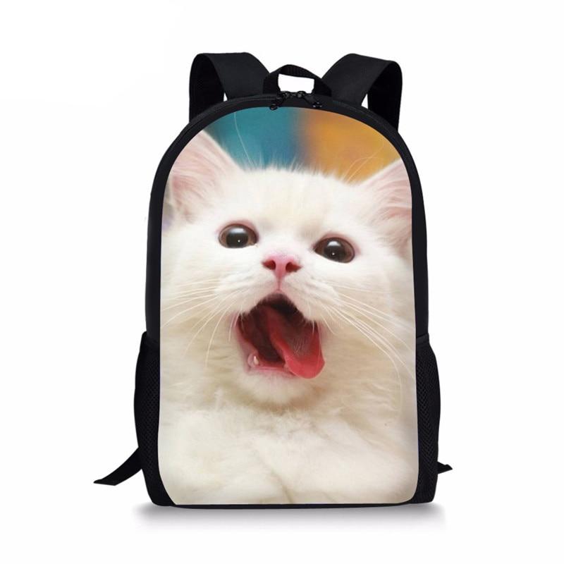 Милые школьные рюкзаки с 3D рисунком животных, кошек для девочек, рюкзаки 16 дюймов, дорожные сумки, женские рюкзаки