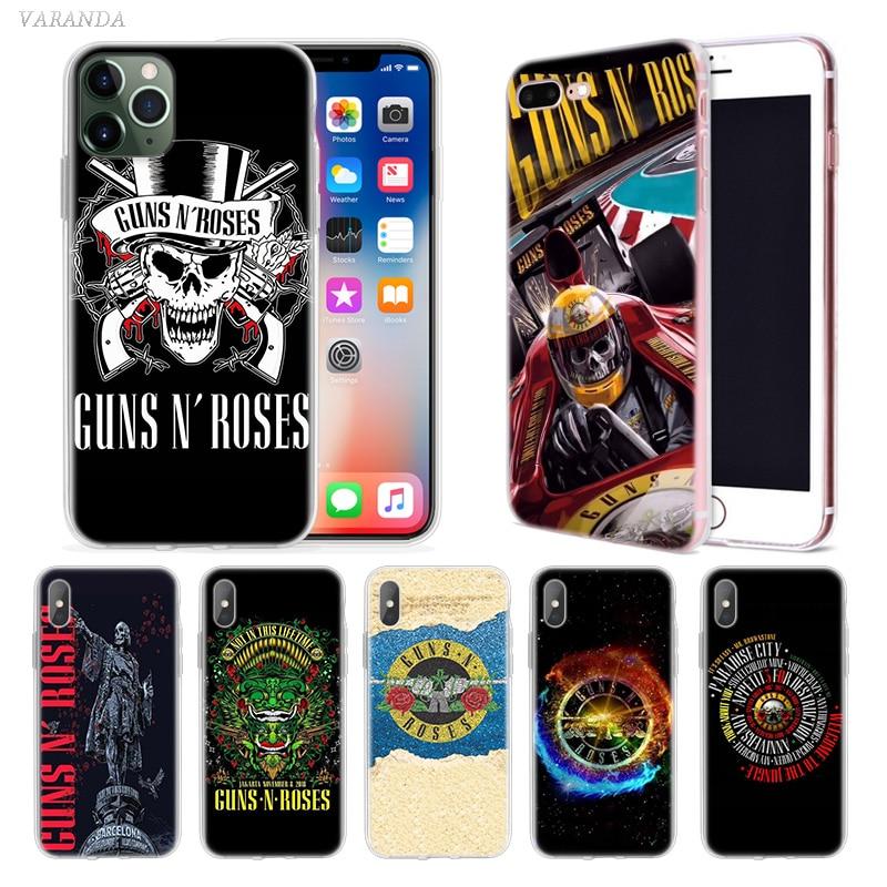 Guns N Roses música caso para Apple iphone 11 Pro X XS X Max XR 7 7 6 6S Plus 7S 5 5 S SE 5C suave TPU Coque teléfono Carcasa de la cubierta