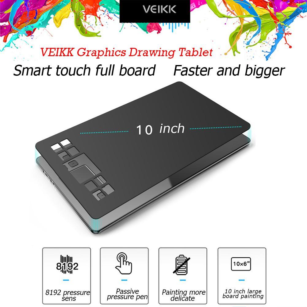 رسام (VEIKK) A50 النسخة الإنجليزية قرص رقمي رسمت باليد لوحة رسم لوحة الرسم الإلكترونية مدخل لوحي 2021
