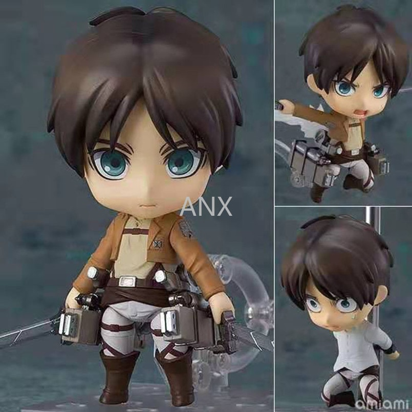 10cm Attack on Titan Figure Eren Jaeger Action Package Ver.  PVC Rivaille Collection Model Toys