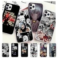 my hero tomura shigaraki transparent phone case cover for iphone 12 11 pro max xs x xr 7 8 6 6s plus 5 5s se 2020
