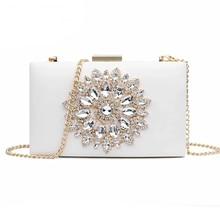 White Women Clutch Bag Wedding Clutch Purse Bridal Evening Crystal Summer Bags for Women 2020 Luxury