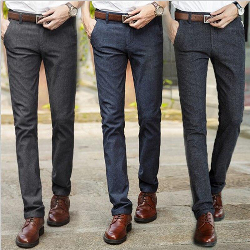 Мужские брюки, повседневные брюки, формальные мужские костюмные брюки, длинные брюки, мужские хлопковые брюки, одежда, брюки-карандаш