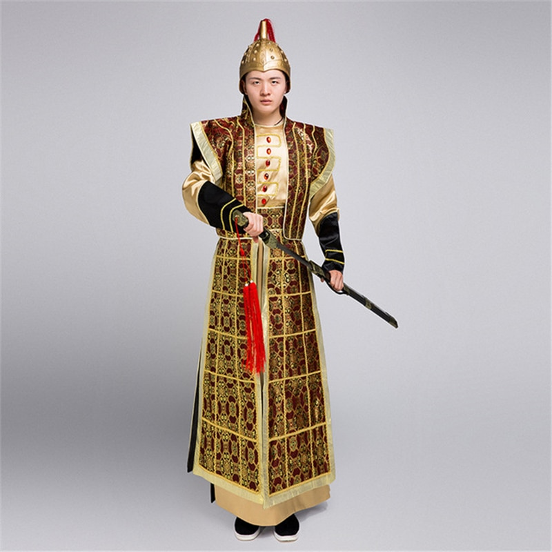 Antigo guerreiro geral guerra armadura yue fei marechal tabs adereços de filme traje masculino hanfu cosplay