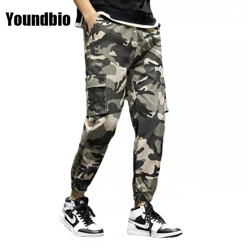 Cargo Pants Men 2021 Camouflage Streetwear Jogger Pant Multi-pocket Trousers Gyms Fitness Casual Jog