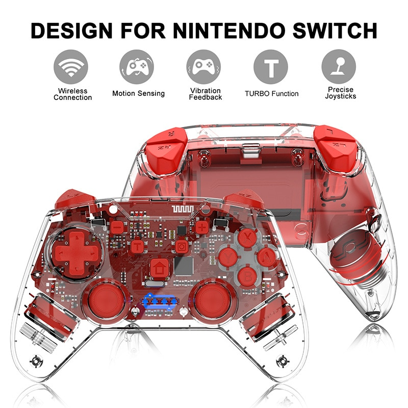 2020 Bluetooth Gamepad for NS-Switch Pro / Switch Lite Console Wireless Gamepad for Nintend Switch Pro Game Joystick Controller enlarge