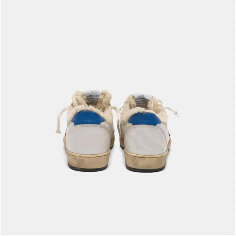 New Winter Children's Lamb Hair Top Layer Cowhide Retro Distressed Small Dirty Family Matching Shoes Parent-child Sneakers QZ77 enlarge