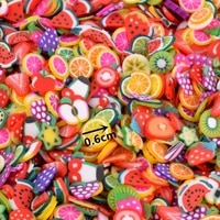 1000pcs fruit slices charms for kids lizun diy supplies polymer clear clay sprinkles putty nail art craft education toys