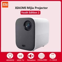 Xiaomi Mijia     Mini projecteur LED Full HD 2  1920x1080  Home cinema 3D  4K  lecteur video multimedia  Bluetooth  avec cadeau