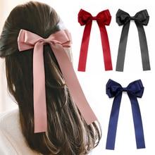 Frauen Bowknot Band Haar Bogen Krawatten Haar Clips Schmetterling Bogen Haarnadel Mädchen Haar Zubehör für Frauen Haarnadeln Pferdeschwanz Halter