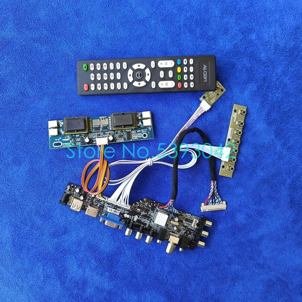 USB + VGA + AV LVDS 30-دبوس الرقمية DVB LCD محرك مجلس كيت ل M220EW01/M201EW02/CLAA220WA01/CLAA201WA04 شاشة 1680*1050 4CCFL