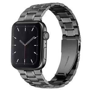 for Apple Watch Band 44mm 40mm Upgraded Version Solid Stainless Steel Strap Business Replacement iWatch Series 5 Wrist Bracelet