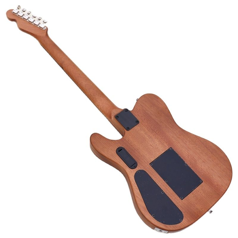 TL style hollow body active electric acoustic guitar 39 inch solid top 6 strings guitar with armrest enlarge