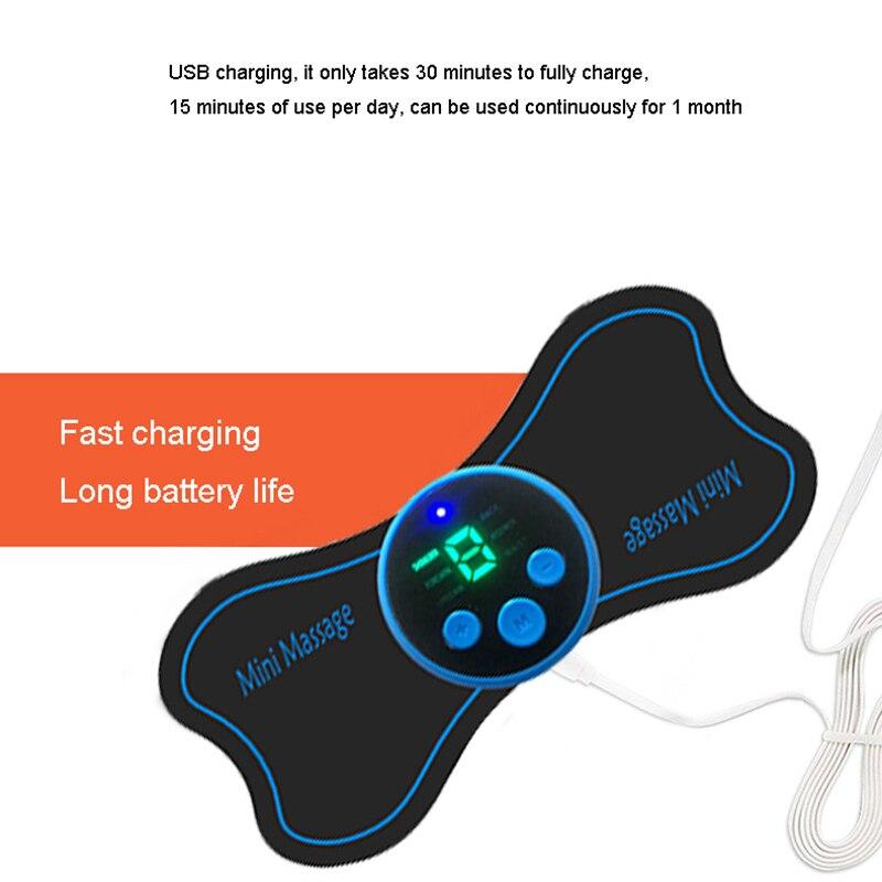 USB شحن الرقبة مدلك صغير نبض الرقبة الظهر عنق الرحم مدلك التصحيح 6 طرق التدليك الاسترخاء الجسم الرعاية الصحية هدية